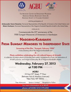 Nagorno-Karabakh - from Sumgait Memories to Independent State
