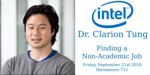 Finding a non-academic job - Dr. Clarion Tung, Intel