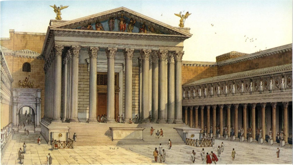 Figure 13. Artist rendition of the complete temple, (Source: The Art of Power project)