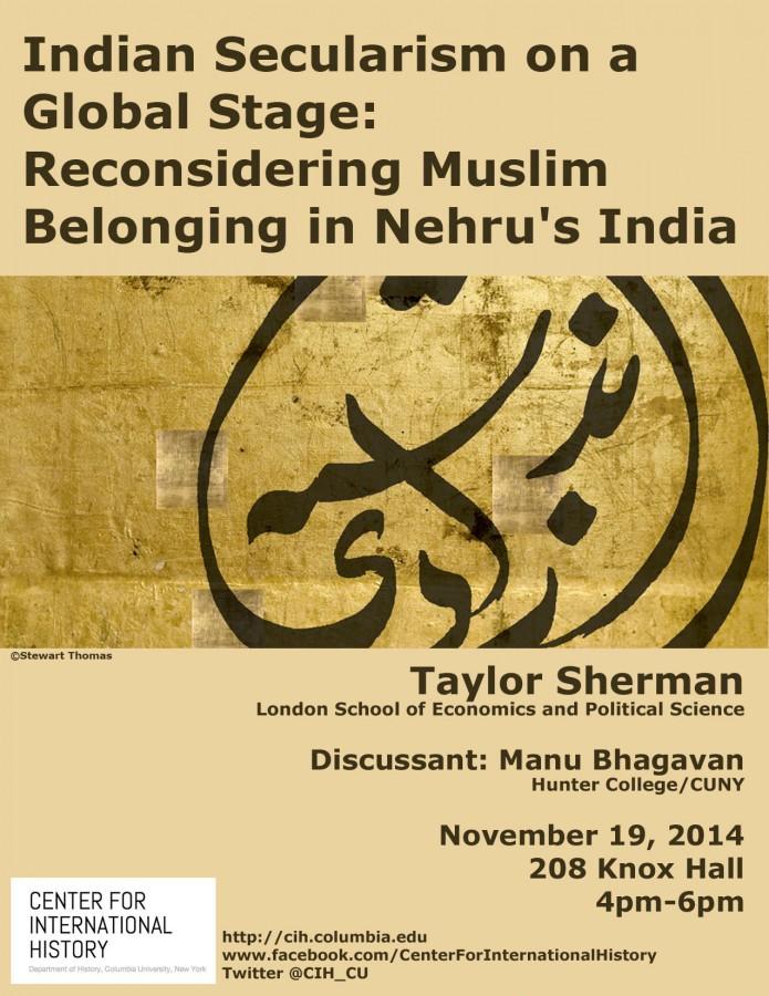 19Nov2014 Indian Secularism on a Global Stage