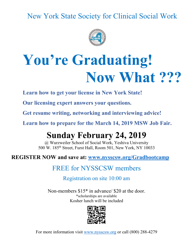 NYSSCSW Presents: You're Graduating! Now What??? | Sunday