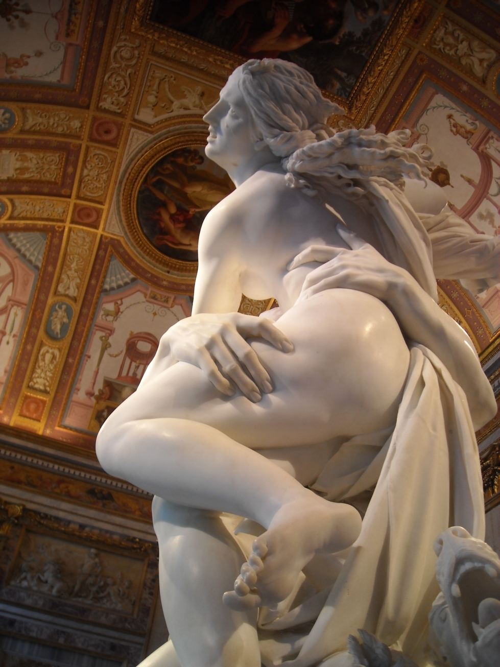 The Rape of Proserpina Leg Indention