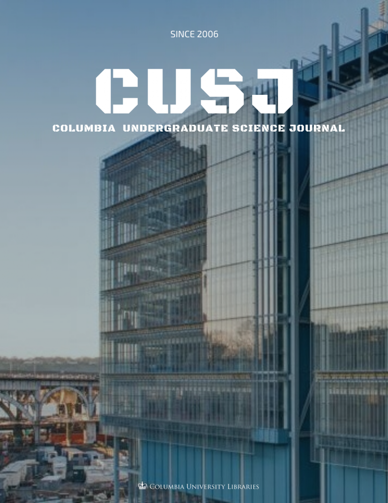 Cover image for the Columbia Undergraduate Science Journal