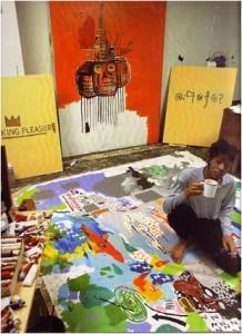 Basquiat_in_Great_Jones_Street_Studio,_New_York,_1987