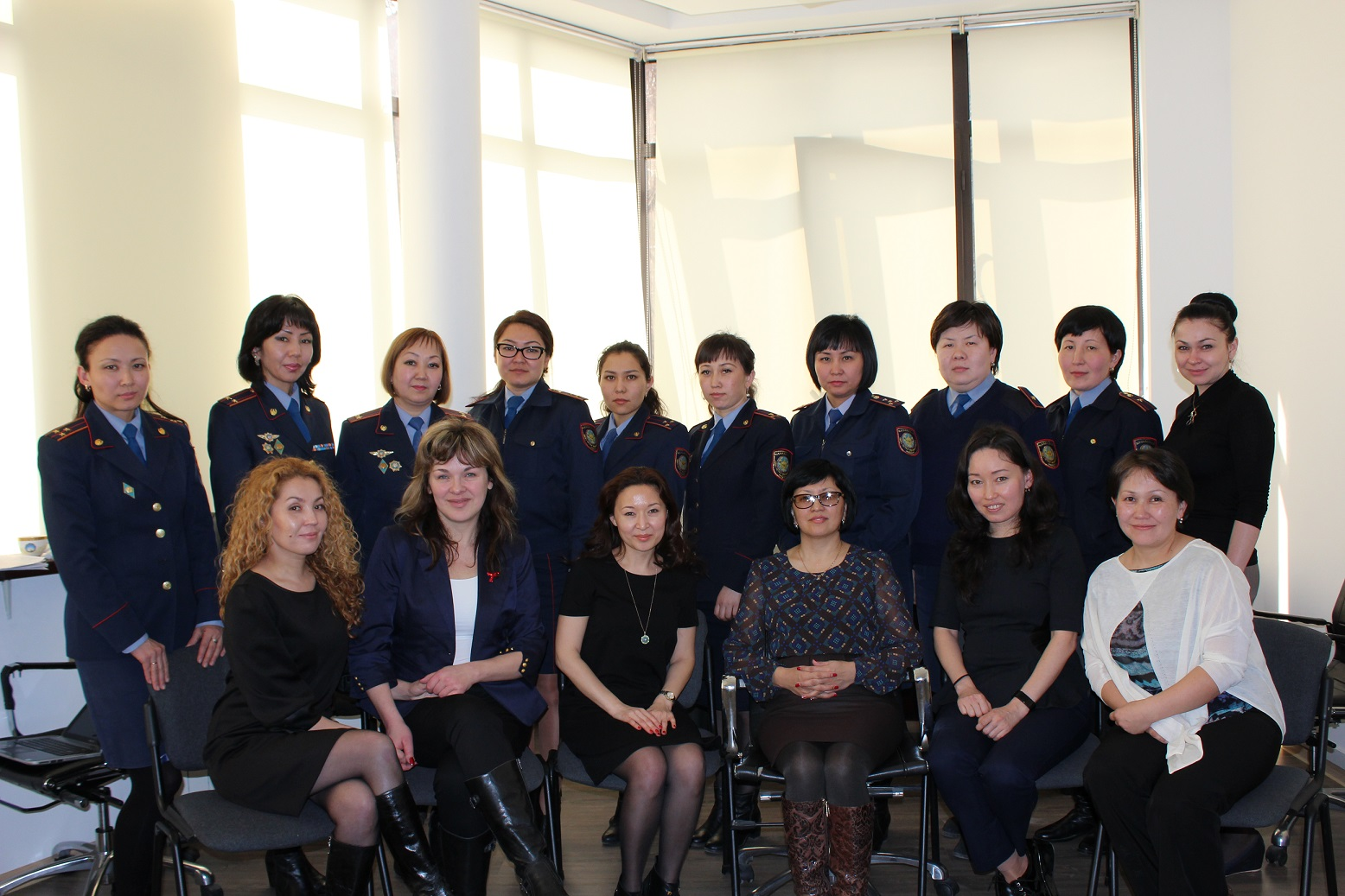 Round table with probation department of police in Almaty, March 2016