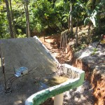 Saut Mathurine Dam rain and pressure station installed in January 2014.