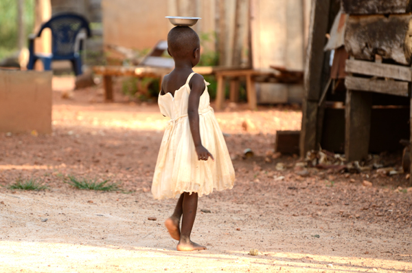 A Ghanaian child.