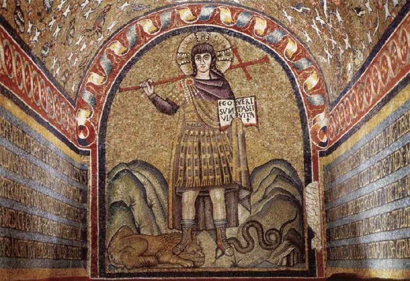 Christ as Warrior, Archiepiscopal chapel in Ravenna, 6th century