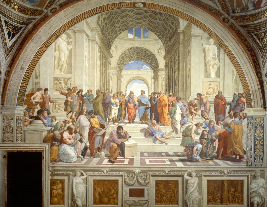 school of athens, raphael, 1509, vatican palace