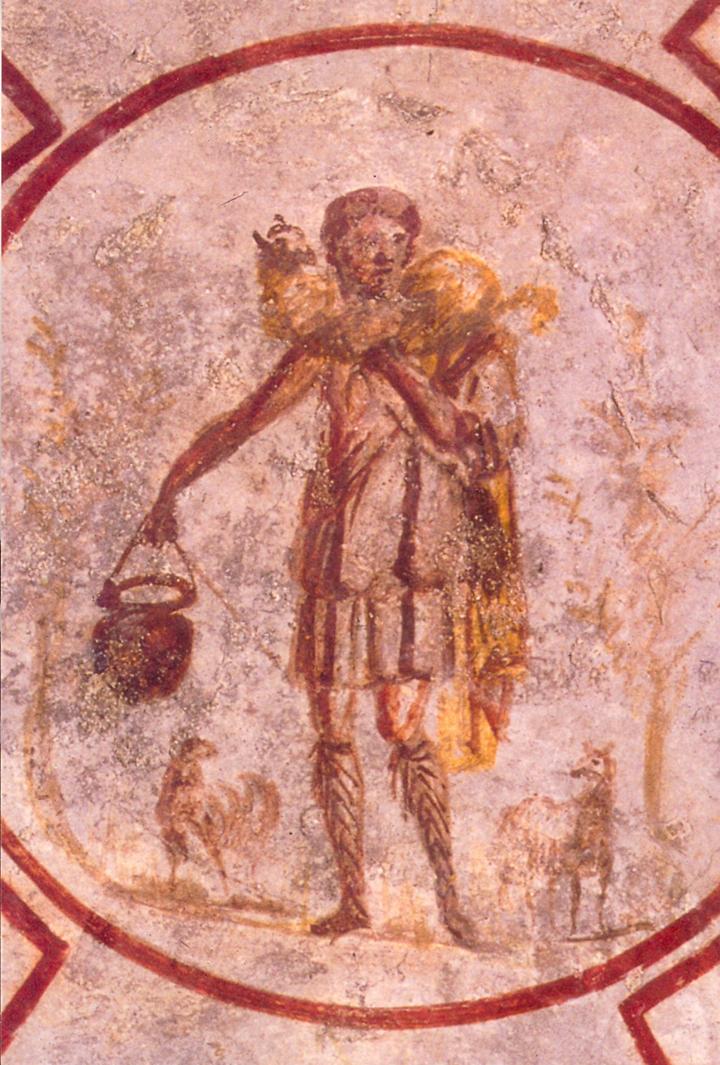 the good shepherd, catacombs of callistus, ca ?