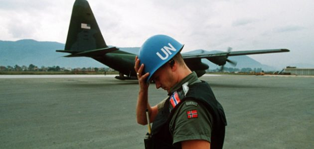 Bosnia UN Blue Helmet