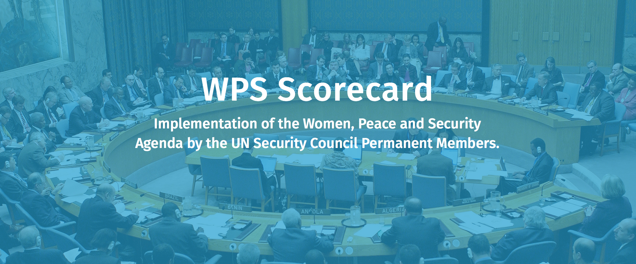 Can the Permanent Members of the Security Council Lead the World's Journey to Sustainable Peace and Gender Justice?