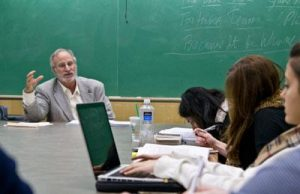 Professor Chuman teaching in the MA Program