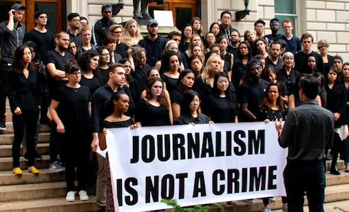 Columbia Students Stand in Solidarity with Jailed Reuters Journalists