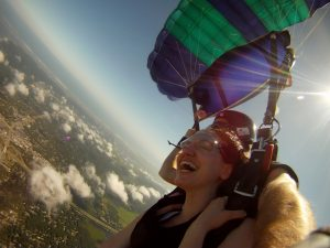 Skydiving over Long Island