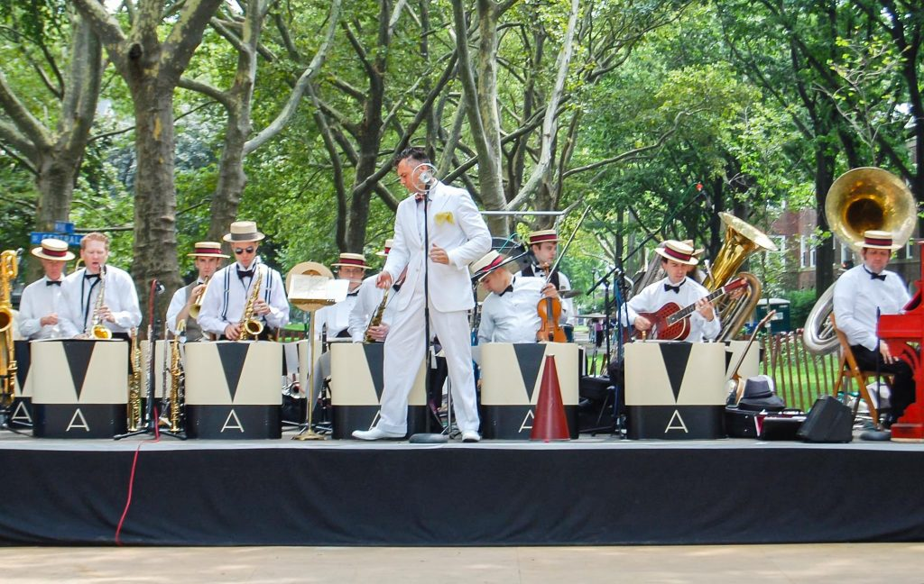 band at Governors Island Jazz Age Lawn Party