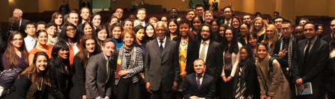 "Kofi Annan tells SIPA, ""You have the power"" to affect the future."